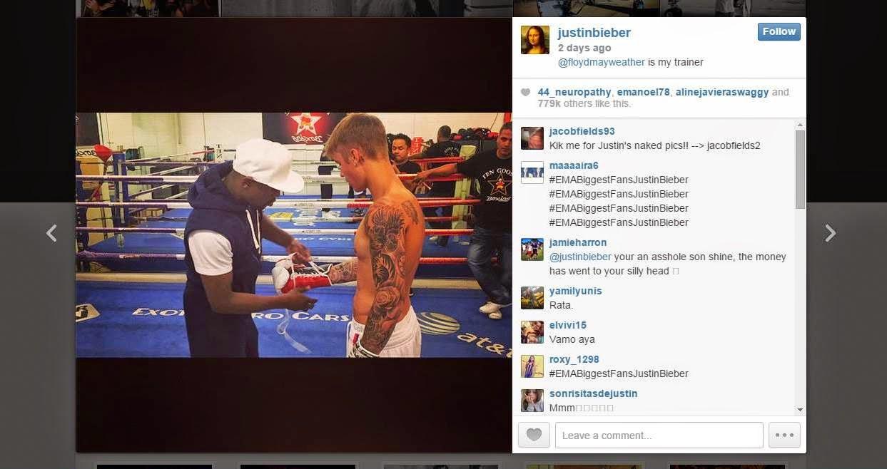 Justin Bieber dan Floyd Mayweather Jr