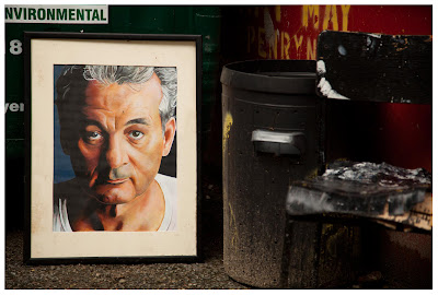 Bill Murray by the bins