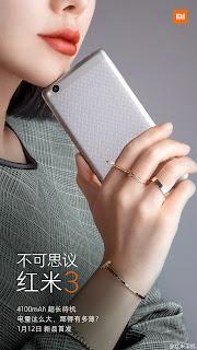 Xiaomi Redmi 3 Tampak Belakang