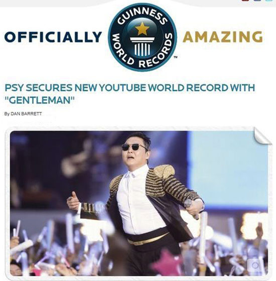 Psy có kỷ lục Guinness thứ 2, psy, thong tin ve psy, gentleman psy