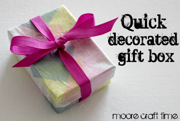 Quick decorated gift box 30 minute crafts gift boxes are a great way to wrap up a little gift i keep boxes i get and i like to dress them up before re using them negle Image collections