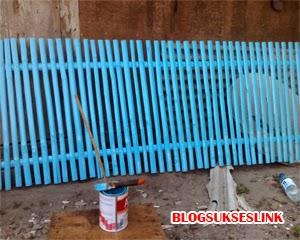 buat pagar rumah bambu