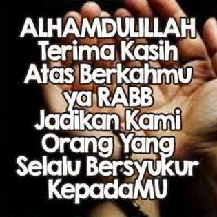 DP BBM Syukur alhamdulillah