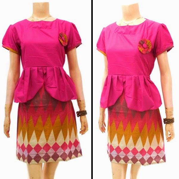 Baju Batik Dress Motif Rang Rang