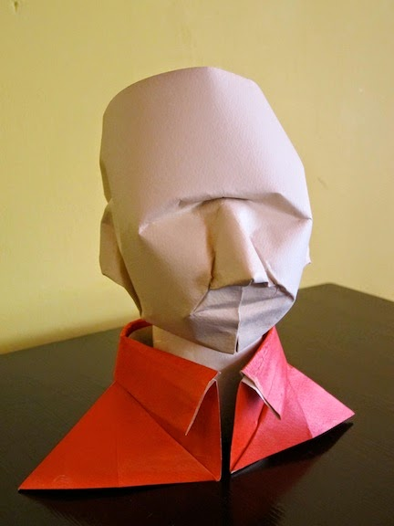 Origami Human Head Animation