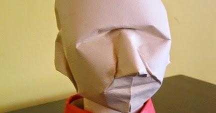 Origami Human Head Animation