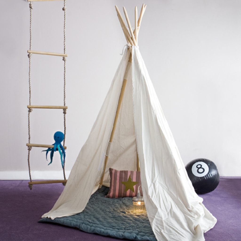 homestar: Room of child: the tipi, the new hut trendy!