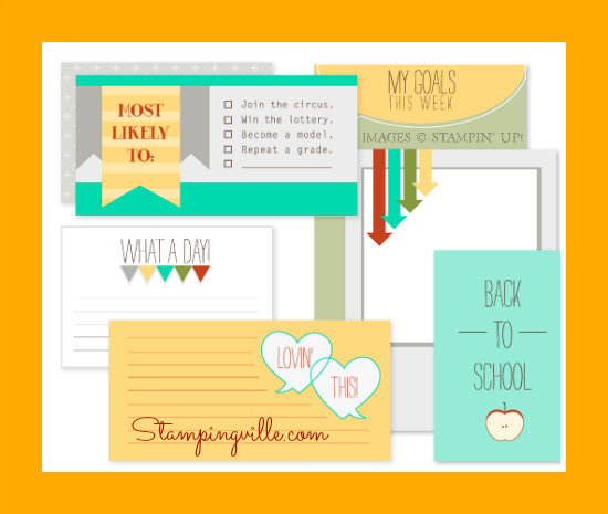 Stampin' Up! What a Day pocket cards selection - digital download