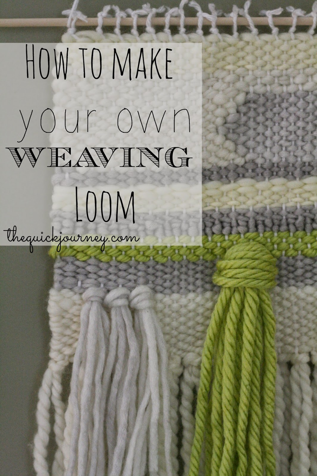 The quick journey diy weaving loom first you mark every 12 inch across your board top and bottom fandeluxe Images