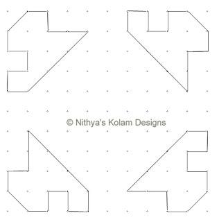2 Siva Lingam Kolam  dots 11 x 11