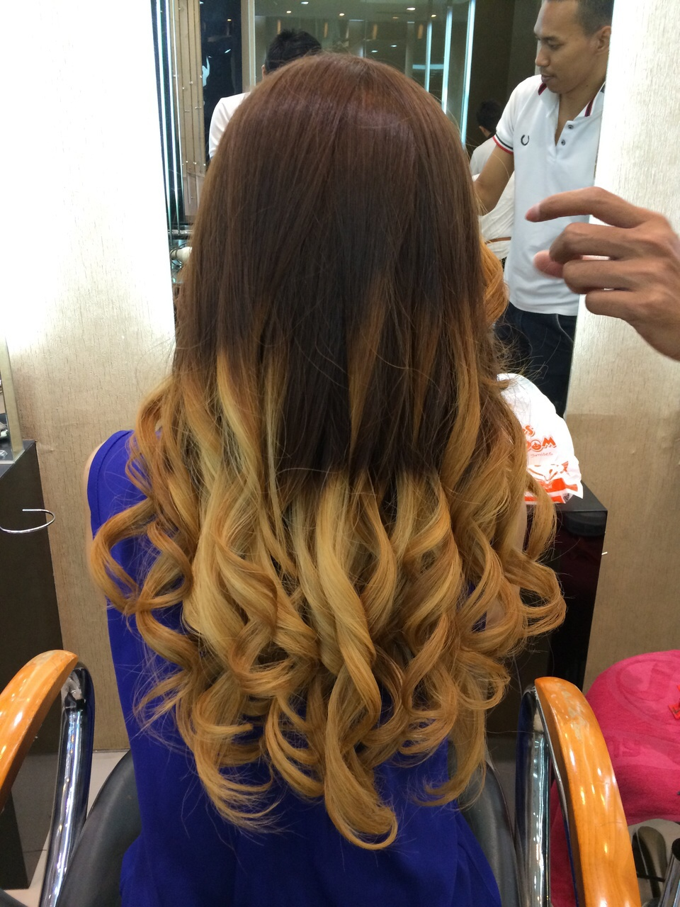 Ombre hair for summer stellangelita if you look at me from the front it will not looks like an ombre hair thats because i was also asked to bleach the front part of my hair left side urmus Gallery