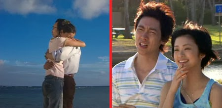 Lisa and Hiroto embrace.  Tsutsumi and Misaki look on.