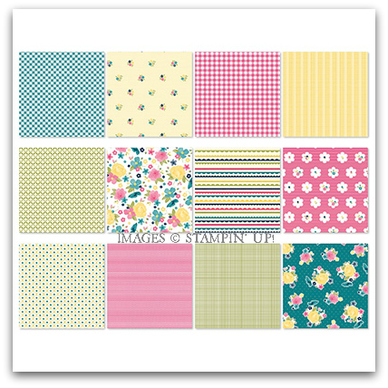 Gingham Garden Designer Series Paper - Digital Download by Stampin' Up!