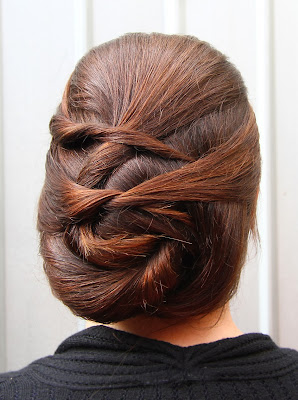 Sleek Rope Hair Upstyle