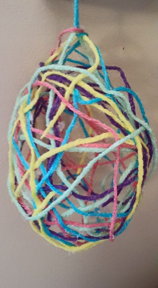 Wool Easter Egg Craft, Easter, crafts, kids crafts