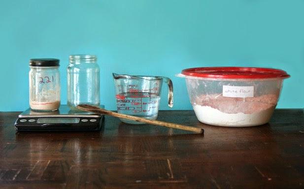 Materials for DIY Sourdough Starter