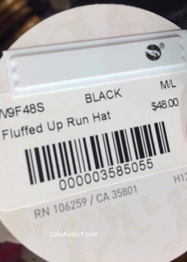lululemon fluffed up run hat tag