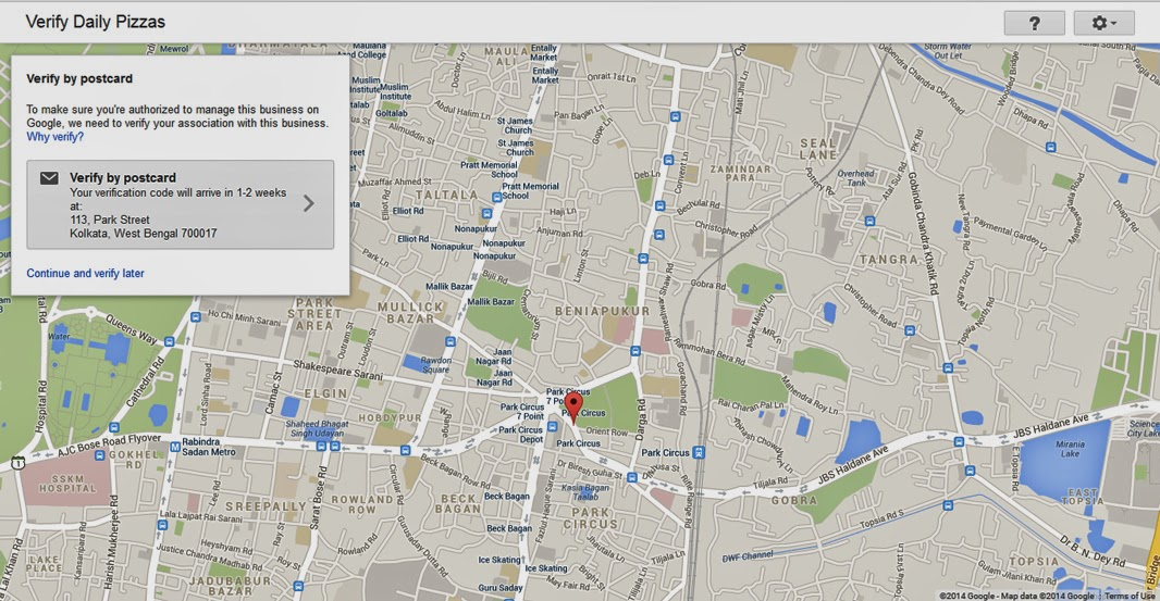 business verification by google places