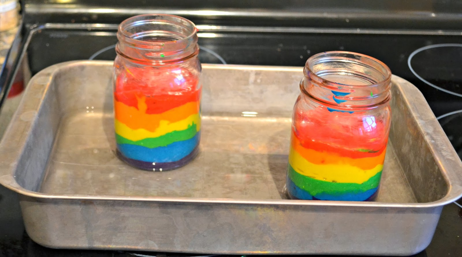 Rainbow Cake in a Mason Jar #recipe |Building Our Story
