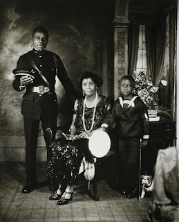 James Van Der Zee, Garveyite Family, Harlem, 1924.