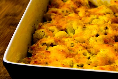 Original photo Cauliflower Gratin with Sharp Cheddar and Parmesan found on KalynsKitchen.com