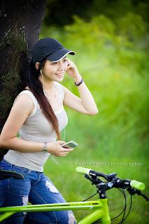 Xem girt cute bên xe đạp -girl xinh việt nam 2014