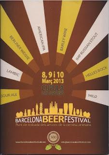 poster del barcelona beer festival 2013