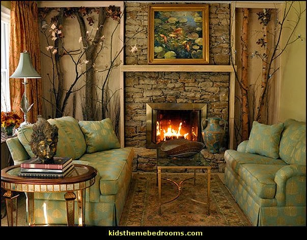 Cabin Themed Living Room Decor