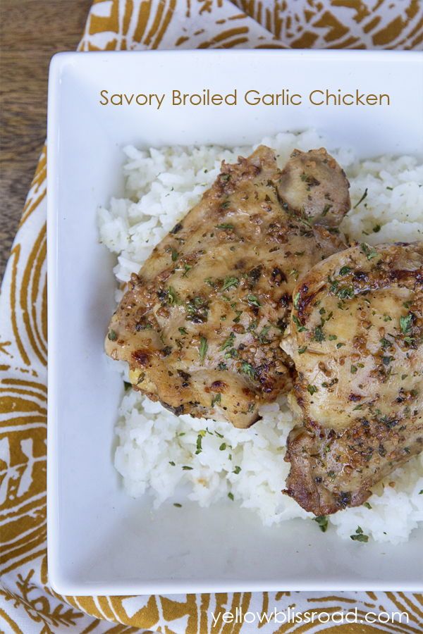 Savory Broiled Garlic Chicken - Made this tonight and my family LOVED ...