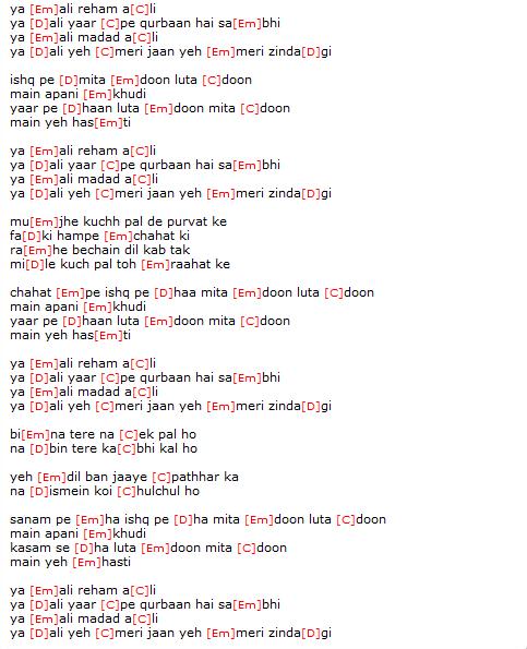 photo: guitar chord hindi songs