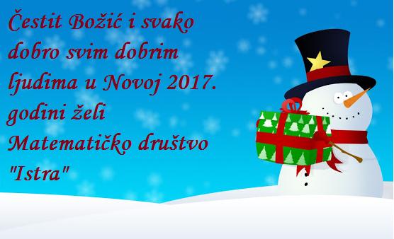 Čestit Božić i sretna Nova 2017. godina