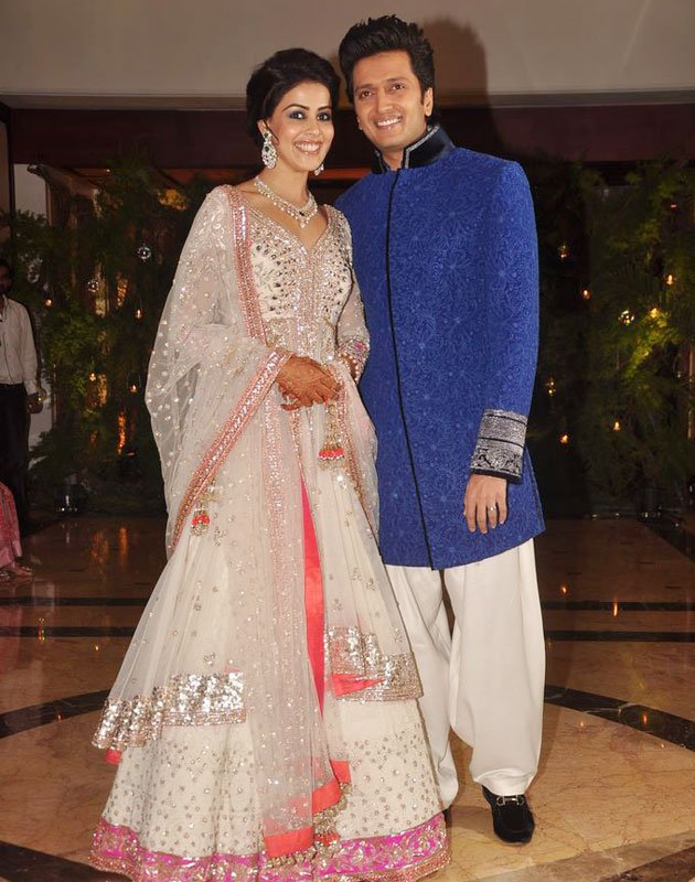 malar world actress genelia and riteish marriage album