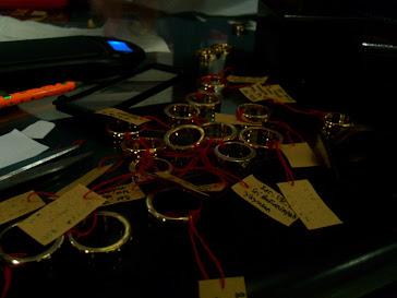 Hasil pembuatan 128 pcs cincin emas 22 k