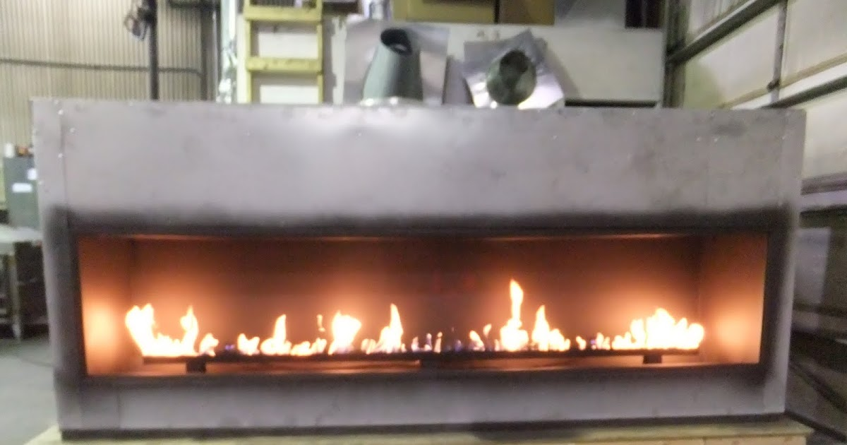 Acucraft Fireplaces: Test Fire - Custom Linear Gas Fireplace