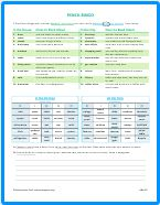 Pencil Bingo PDF Worksheet Thumbnail