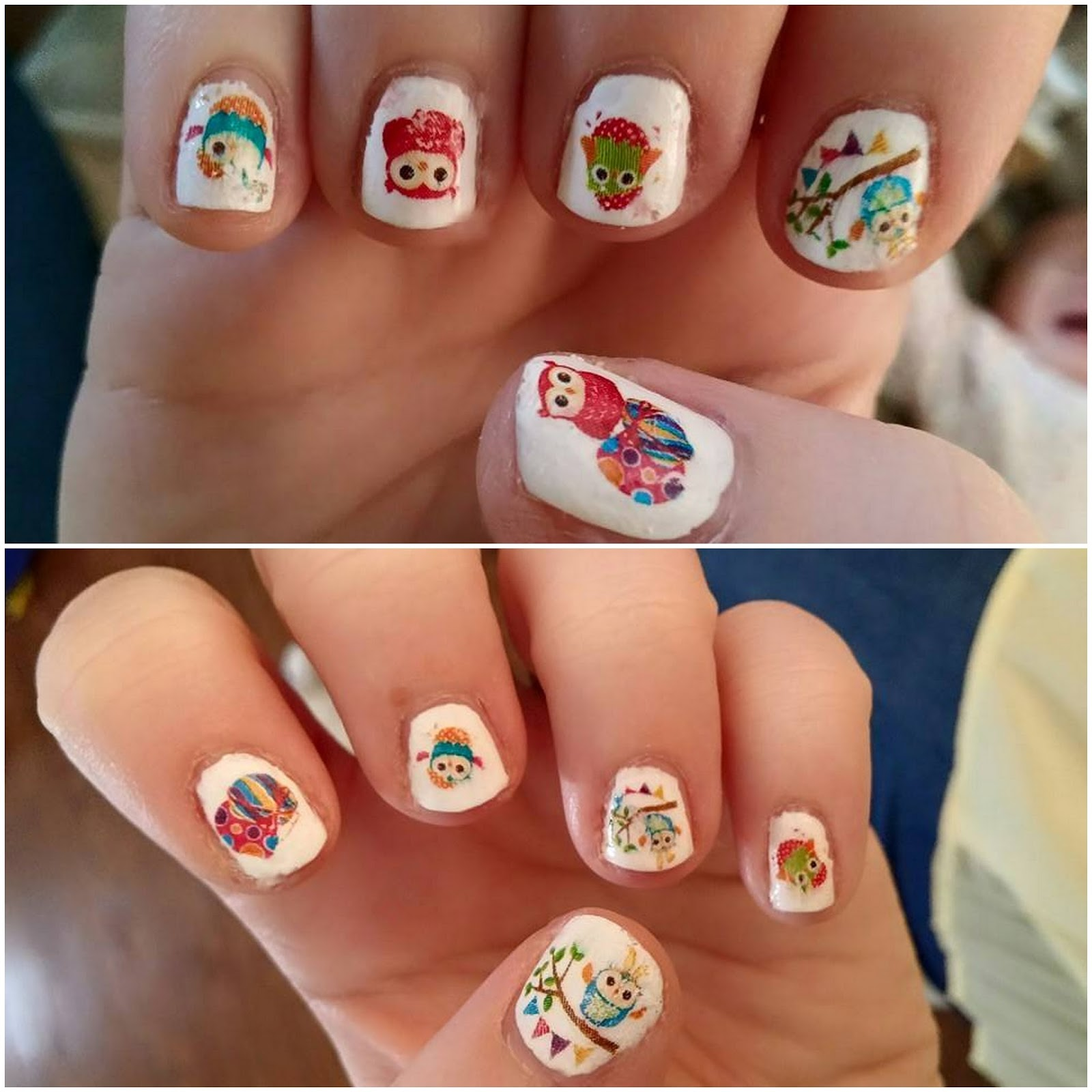 Easter owl nail stickers