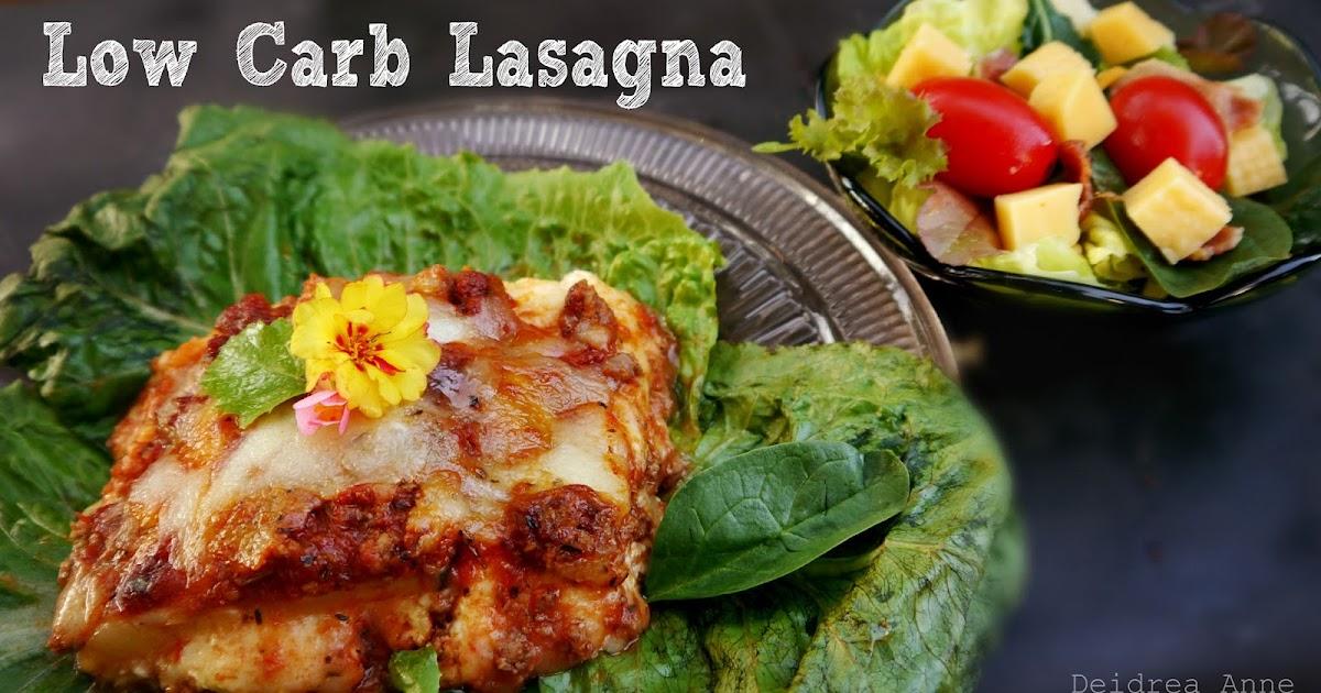 Suzy Homefaker Zucchini Noodle Lasagna