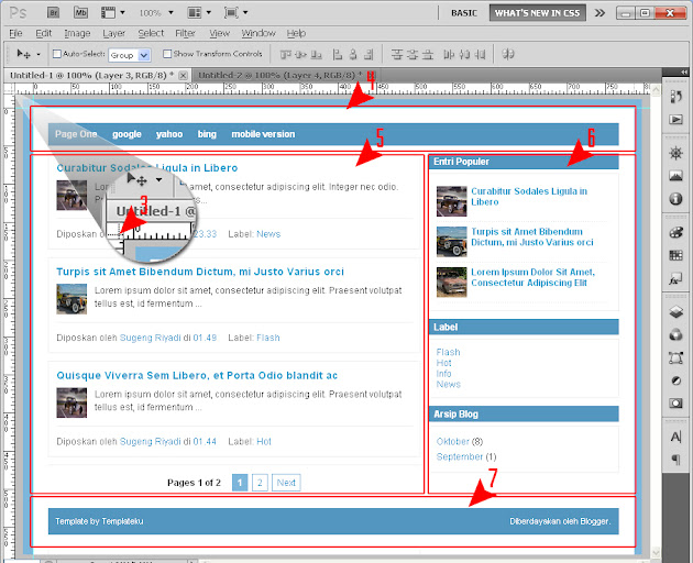 how to make a blogspot template in photoshop
