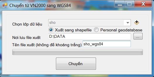 Chuyển từ VN2000 sang WGS84 và ngược lại