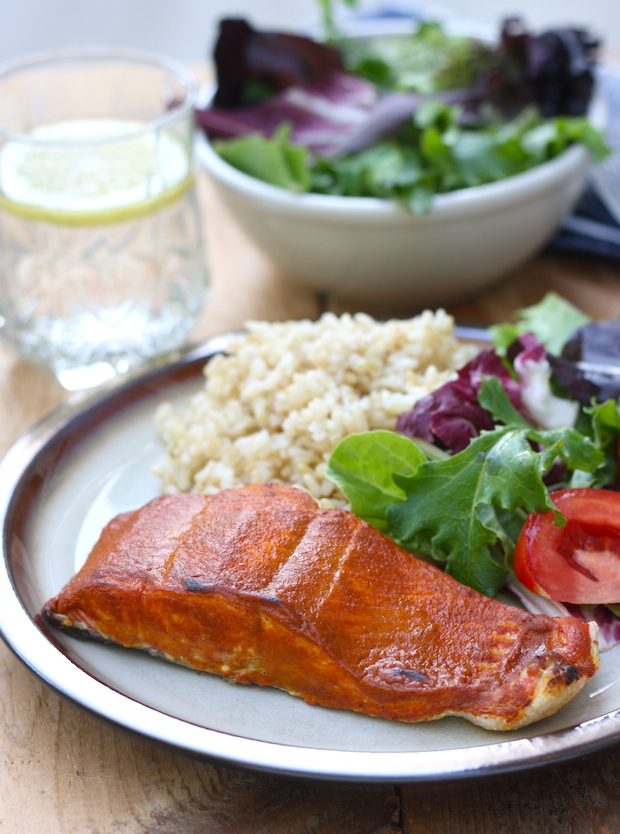 Tandoori Roasted Salmon by SeasonWithSpice.com