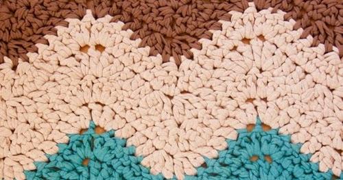 Patrones trapillo alfombra rectangular de trapillo - Alfombra trapillo facil ...