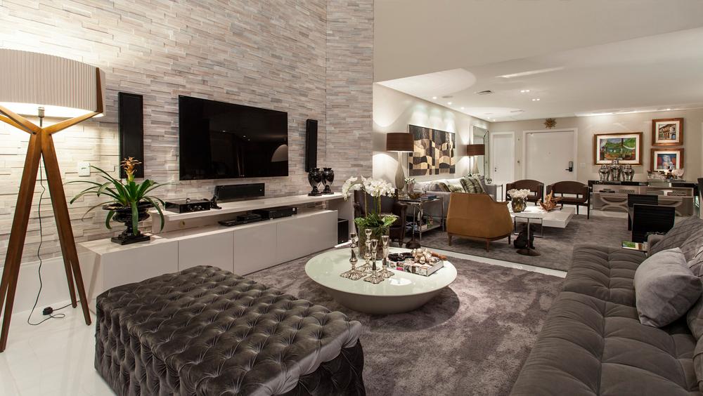 Apartamento com decora o contempor nea e cl ssica e salas for Decoracion clasica contemporanea