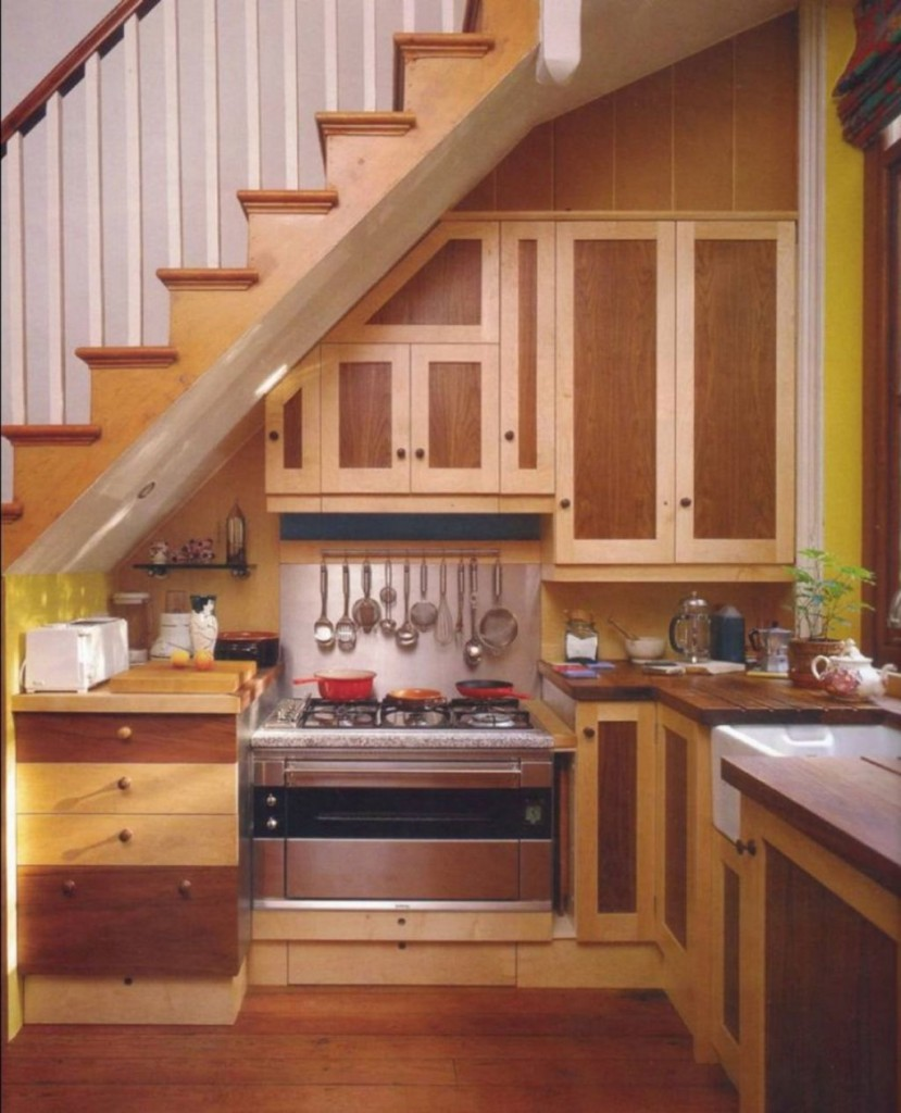 Under Stairs Kitchen Storage Ideas: 20 Small Places Where You Can Set Up Inspiring Kitchen