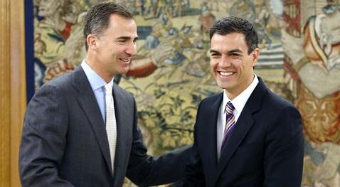 Felipe VI encarga formar Gobierno a Pedro Sánchez ante la negativa de Rajoy