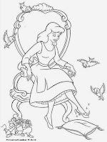 Gambar Mewarna Cinderella