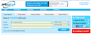 screenshot of Jobserve.com