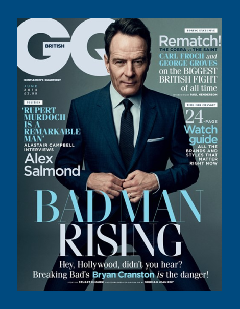 Bryan Cranston by Norman Jean Roy for British GQ