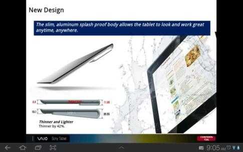 Solo 8,8mm di spessore per i prossimi tablet di Sony