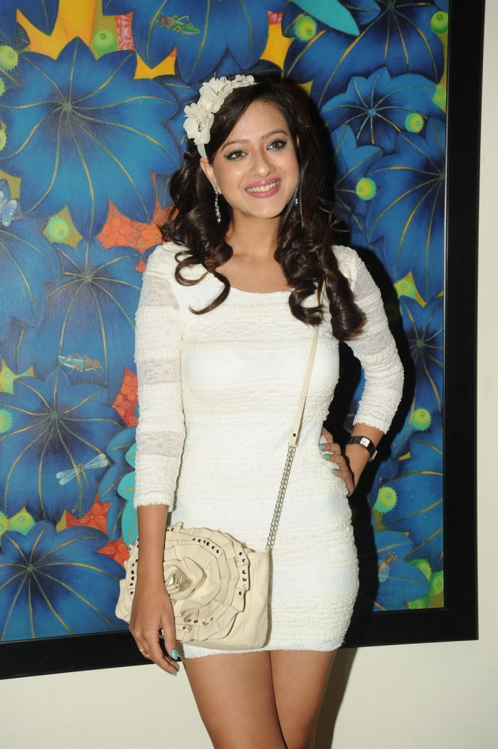 Madalasa Sharma in white Dress frm movie feel my love 1 - Madalasa Sharma Pics in White Dress