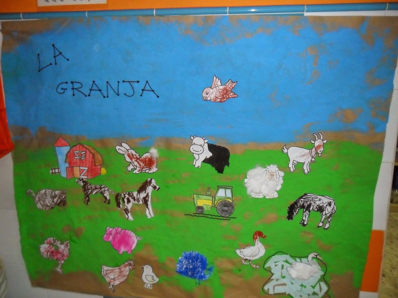 Materiales para educaci n infantil mural animales de la - Mural pared infantil ...